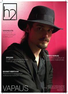 """Student magazine H2 - AD, cover photo + interview """"Vapautta on asettaa itselleen rajat"""" on page 8 ->"""
