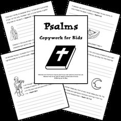 Psalms for Kids Copywork Pages from Walking by the Way