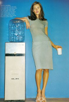 ">>> Kate Moss at watering hole, ""NY"", Photographer: Terry Richardson, Harper's Bazaar, January 1998."