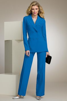 metrostyle ---- pantsuit ----Paige Butcher---- Suits For Women, Double Breasted, 3 Piece, Special Occasion, Formal, Collection, Dresses, Jumpsuits, Closet