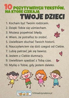 Trendy w kategoriach edukacja w tym tygodniu - Poczta Raising Kids, Baby Birthday, Parents, Kids And Parenting, Kids Learning, Good To Know, Kindergarten, Baby Boy, Inspirational Quotes