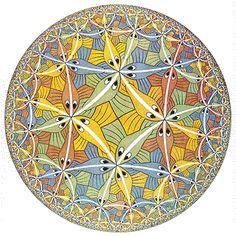 "M. C. Escher- ""Circle Limit III""- December 1959, Woodcut in five colors."