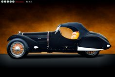 Profile, Talbot-Lago T-150 Competition Roadster by Figoni et Falaschi, 1937