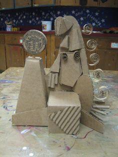 The smARTteacher Resource: Cardboard Cubist Sculptures