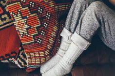 How amazing are these pillows! Worldwide Textiles is an incredible company curated with all sorts of ethnic and artisan goods from around the globe. We fell in love with these gorgeous pillows, their website is just flooded with so many beautiful o Cable Knit Socks, Knitting Socks, Autumn Cozy, Warm Blankets, We Fall In Love, Winter Day, Cute Casual Outfits, Warm And Cozy, Men Sweater