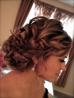 Curly Long Medium Straight Updo Wavy Wedding Hair & Beauty Photos & Pictures - WeddingWire.com