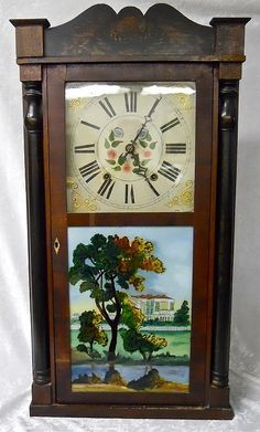 Lot 13: 19th C. Boardman & Wells Mantel Clock - J. James Auctioneers and Appraisers | AuctionZip