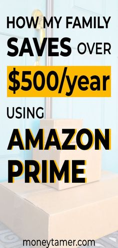 These Amazon Prime shopping hacks and tips will save you money and make your life easier.  My family uses these Amazon Prime benefits to save over $500 a year on entertainment, pet food, groceries, and household goods.  If you're wondering how to get the most out of your Amazon Prime membership, then these savings tips will help you decide whether a membership is worth it.  #amazonshopping #amazonhacks #amazonprime #savemoneytips #moneytamer Save Money On Groceries, Ways To Save Money, Money Tips, Money Saving Tips, Frugal Family, Frugal Living Tips, Amazon Store Card, Discount Grocery, Grocery Savings Tips