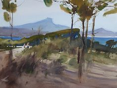 In the shade by Eugen Chisnicean Watercolor ~ 45cm x 60cm