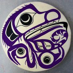 Wolf DrumMike DangeliNisga'a, Tlingit & TsimshianDeer hide, wood, pigment