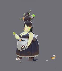 ArtStation - Молодая ведьма, ее грудь и некоторые мобы, Сергей Рыжов