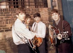 THE BEATLES ANTHOLOGY' Book 1963 Soon after, they had an improvised photo session at the studios' backyard