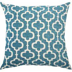 Better Homes and Gardens Teal Latticework Classic Chenille Reversible Pillow - Walmart.com