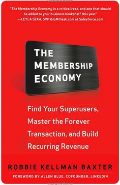 In today's business world, it takes more than a website to stay competitive. The smartest, most successful companies are using radically new membership models, subscription-based formats, and freemium pricing structures to grow their customer base—and explode their market valuation—in the most disruptive shift in business since the Industrial Revolution. This is The Membership Economy.