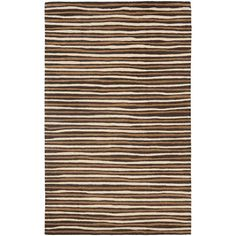 I pinned this Martha Stewart Hand Drawn Stripe Rug in Tilled Soil Brown from the Designer Rug All-Stars event at Joss and Main!