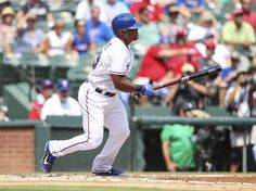 CrowdCam Hot Shot: Texas Rangers third baseman Adrian Beltre hits a single during the first inning against the Oakland Athletics at Rangers Ballpark in Arlington. Photo by Kevin Jairaj