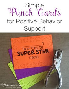 Using simple punch cards for positive behavior support in the classroom