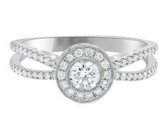 unusual halo diamond ring VR1017-1