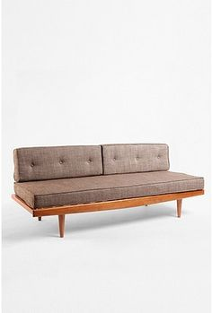 Sofa by Urban Outfitters, inspired by vintage 1960s Danish modern daybeds