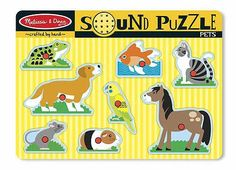 Melissa & Doug Pets Sound Puzzle- 8 Pieces