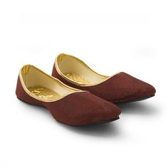 f3da3ab913a Maroon robert shimmer party wear traditional footwear for women