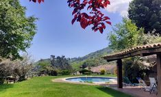 El Buxaus, Catalonia, Spain. The pool and surroundings are now ready to enjoy! organicholidays.com/at/2832.htm Bed And Breakfast, Spain, Mansions, House Styles, Home Decor, Breakfast In Bed, Mansion Houses, Homemade Home Decor, Sevilla Spain