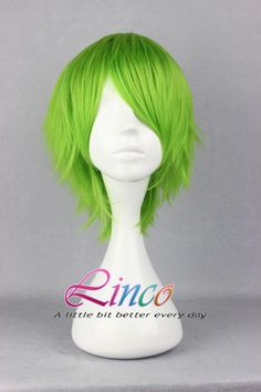 Green short 35cm long wig cosplay wig high quality wigs:)Gundam oo cosplay on Etsy, $16.99