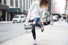 Fall trench and heels | Keatonrow.com
