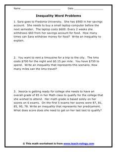 7 Inequalities Ideas Inequality Algebra High School Math