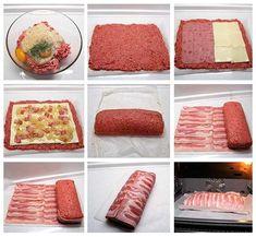 Rollo de carne relleno facil.