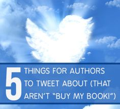"""A major trap that authors fall into on Twitter is trying to get too many people to buy their book. Of course, as a self-published author your goal is to get people to buy your book, but constantly repeating """"BUY MY BOOK!"""" (or some variation) on Twitter will get old very quickly and cause your...  Read more: http://bookmarketingtools.com/blog/5-things-for-authors-to-tweet-about-that-arent-buy-my-book/"""
