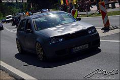 Satin Black VW Golf Mk4 by retromotoring, via Flickr