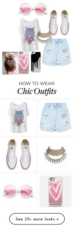 """""""causal plz pick"""" by shayvondiin on Polyvore featuring New Look, Converse, ZeroUV and Casetify"""