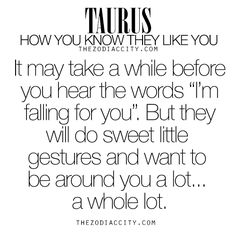 Zodiac Taurus: How you know they like you.