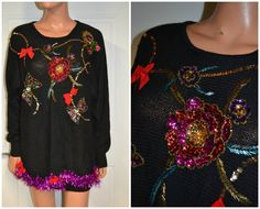 OOAK 3D vintage Tacky Ugly Christmas Sweater by NYinVogueVintage