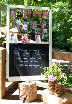 Chalkboard wedding decor and details