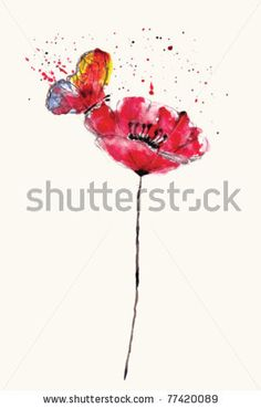 watercolor flower tattoo designs - Google Search