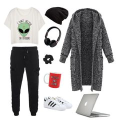 """""""Lazy day"""" by molliebrigid ❤ liked on Polyvore featuring True Religion, adidas, Free People, Beats by Dr. Dre, Topshop and Speck"""