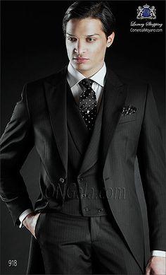 Traje de novio Chaqué negro 918 ONGala Wedding Morning suit