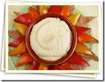 Sunshine hummus and peppers