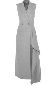 Alexander Mcqueen Asymmetric Cashmere Gilet In Light Gray Modest Fashion, Hijab Fashion, Alexandre Mcqueen, Hijab Stile, Long Vests, Dress Skirt, Designer Dresses, Blazers, Cashmere