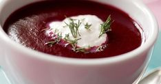 Chilled Beet Soup with Horseradish Sour Cream~ Great for using fresh garden beets in the summertime. Best Roasted Vegetables, Roasted Carrots, Veggies, Sour Cream, Beetroot Soup, Beet Borscht, Borscht Recipe, Passover Recipes, Jewish Recipes