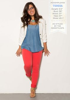I really love that top. It's flowy and can be dressed up or down