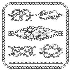 noeud marin: Noeuds de corde nautique.