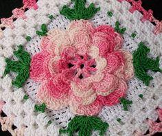 Free Crochet Pattern - Two Layer Irish Crochet Rose from the