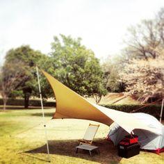 試し張り 赤いポールが欲しい #solo#camp#キャンプ#エリクサー2#ムササビウイング#焚き火#小川張り#ソロキャンプ