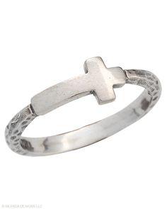 Simplex Cross Ring | Jewelry by Silpada Designs