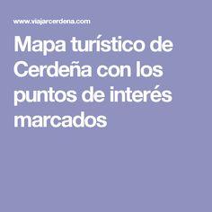 Mapa turístico de Cerdeña con los puntos de interés marcados