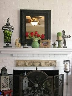 Need the iron urn with green moss balls for mantle!!!