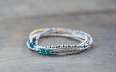 Beaded Stretch Bracelet with Paraiba Apatite, Delicate Seed Bead Necklace, Tiny Seed Beads Jewelry, Boho Chic Elastic Multi Wrap Bracelet by MoonLabJewelry on Etsy https://www.etsy.com/listing/212230327/beaded-stretch-bracelet-with-paraiba